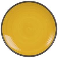 VALENCE - Set van 2 - Plat bord van geel aardewerk