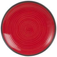 Plat bord van rood aardewerk Valence