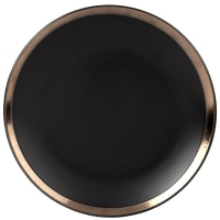 MARCO - Set van 6 - Plat bord van zwarte gres