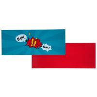 Plateau de bureau réversible bleu/rouge L 150 cm Desk