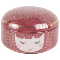 Plum Ceramic Doll Jewellery Box Linda