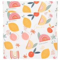 CLEM - Lot de 2 - Pochette réfrigérante en aluminium motifs fruits multicolores