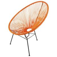 COPACABANA - Poltrona rotonda da giardino arancione