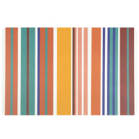 Set of 12 - Polypropylene tray with multicoloured stripe print