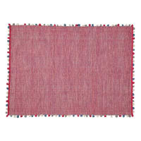 cotton rug in fuchsia pink 120 x 180cm Pompon