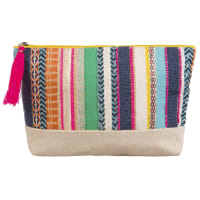 Poncho-Style EmbroideRed Cotton Sponge Bag