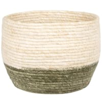 Portavasi in fibra di mais intrecciata bicolore alt. 21 cm