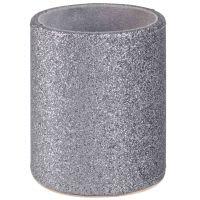 Pot à crayons à paillettes argentées Star