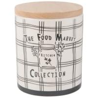 Pot van wit aardewerk met print Food Market