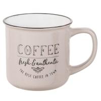 Printed Beige Earthenware Mug Town