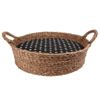 Printed Grey Plant Fibre Cat Basket Club