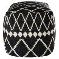 Puff aus Baumwolle mit schwarzen und weißen Motiven 45x45x45cm Lagia