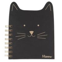 Quaderno per appunti a spirale gatto in carta nera
