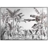 Quadro impresso com selva preto e branco 90x63