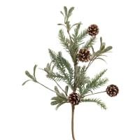 Ramo de Natal com pinhas