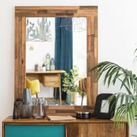 Recycled Wood Mirror 91x120 Enrique