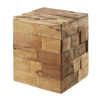 Recycled Wood Stool Riverside
