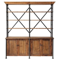Recycled wood wardrobe W 200cm Fontainebleau