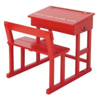 Red Child's Desk Pupitre