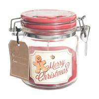 BISCUIT DE NOEL - Red Scented Christmas Glass Jar Candle