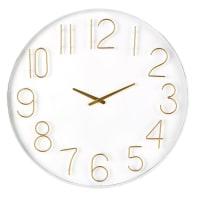 Reloj de metal blanco y dorado D.80 Charlize