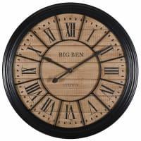 Reloj de metal negro D.100 cm Edvin