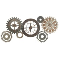 MÉCANISME - Reloj engranajes de metal patinado L164