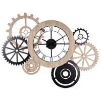 Reloj industrial bicolor 145x109 cm Hipster