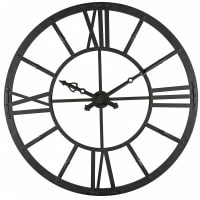 Reloj luminoso de metal negro D.121 cm Duke