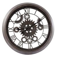 Reloj negro industrial de metal D.82 Contre-Temps