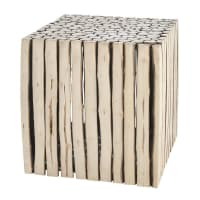 wooden side table W 38cm Rivage