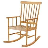 Rocking chair en teck Nutshell