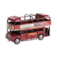 Rode pennenhouder dubbeldekkerbus