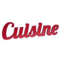 Rodekleurig muurdecoratie woord 80x22 Cuisine