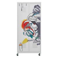 Rollkleiderschrank aus Metall, B 85cm, bunt  Freestyle