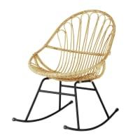 Rotan schommelstoel Pétunia