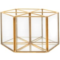 LONDON - Rotating pencil holder in glass and gold metal