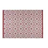 Roter Outdoor-Teppich mit grafischen Motiven 160x230