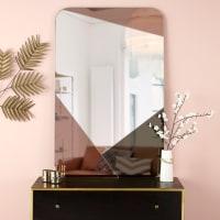 Round Copper and Smoked Glass Mirror D 100 cm Mia