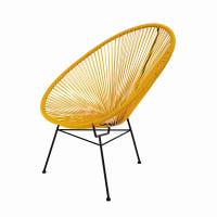 COPACABANA - Round Mustard Yellow Garden Armchair