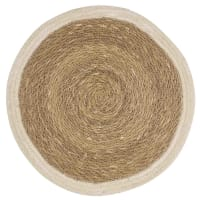 Round White Jute Place Mat