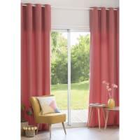 Roze katoenen ringgordijn 140x250 Brume