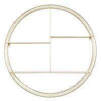 Rundes Wandregal aus goldfarbenem Metall Yoko