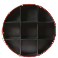 Scaffale rotondo in abete nero e corda Circus