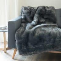 faux fur blanket in black 150 x 180cm Scaffel