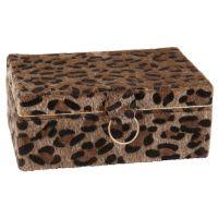 Schmuckschatulle mit Leopard-Druckmotiv Panthera
