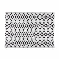 Schwarz-weiße Berberteppich 140x200cm Jyam