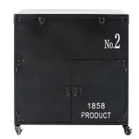 Schwarzer Metallkoffer mit Aufdruck Finley