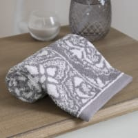 Serviette en coton motifs carreaux de ciment 30x50 Floris