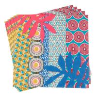 Serviettes en papier imprimé graphiques Bahia Jungle